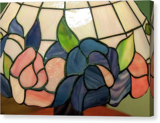 Canvas Print featuring the photograph Flower Stained Glass  by Chris Flees
