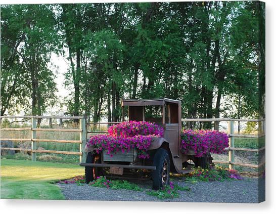Flower Truck Canvas Print