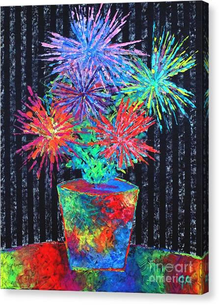 Flower-works Plant Canvas Print