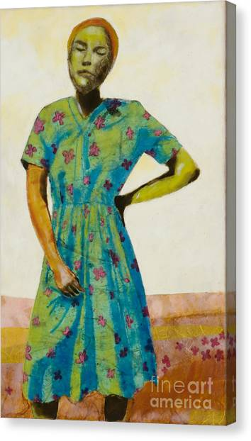 Canvas Print - Flowered Dress by Andrea Benson