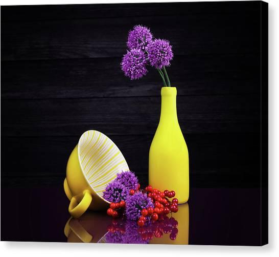 Onion Canvas Print - Flowering Onion With Yellow by Tom Mc Nemar