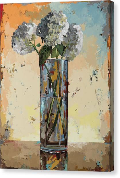 Hydrangea Canvas Print - Flowers #16 by David Palmer