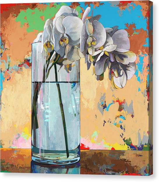 Orchids Canvas Print - Flowers #21 by David Palmer