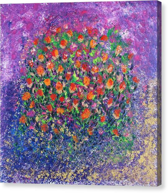 Flowers All Over Canvas Print