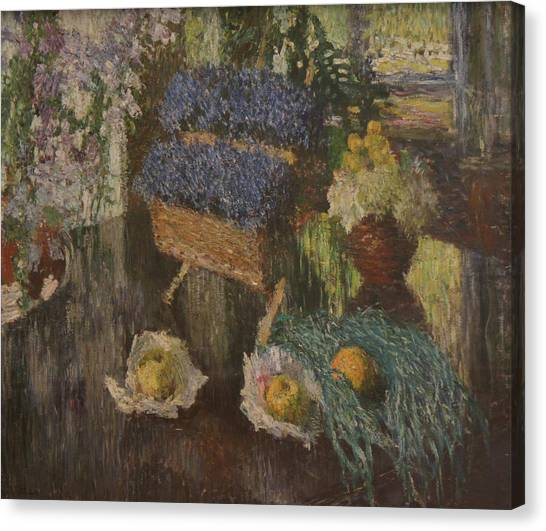 Flowers And Fruits Canvas Print by Igor Grabar