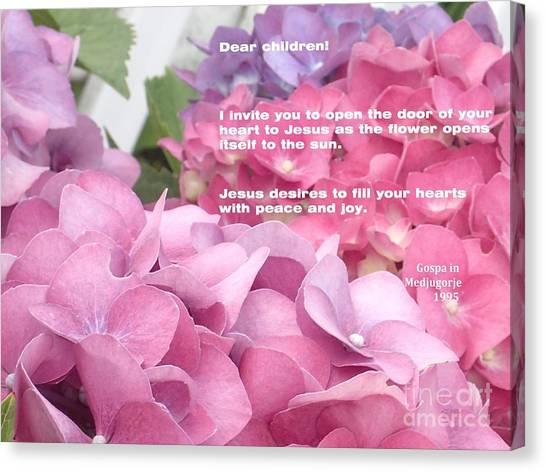 Flowers And Joy  Canvas Print