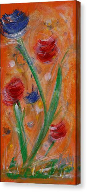 Flowers At Sunset 1 Canvas Print