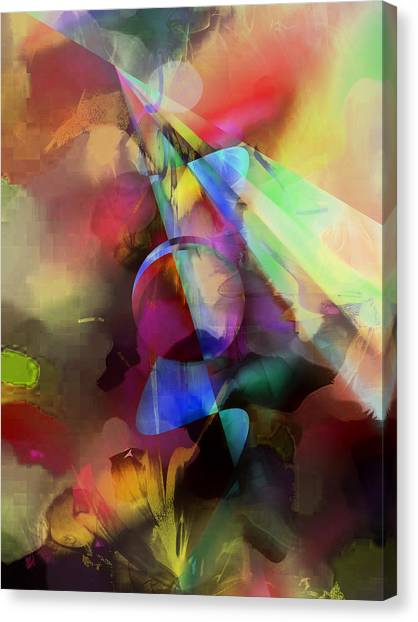 Contemporary Art Canvas Print - Flowers by Contemporary Art