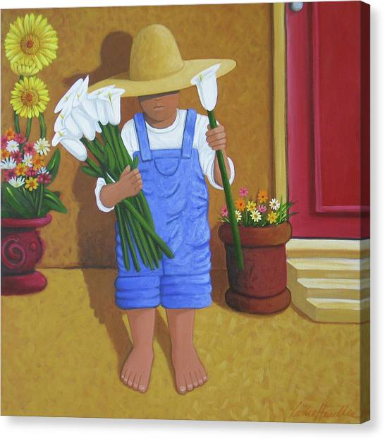 Lance Headlee Canvas Print - Flowers For A Friend by Lance Headlee