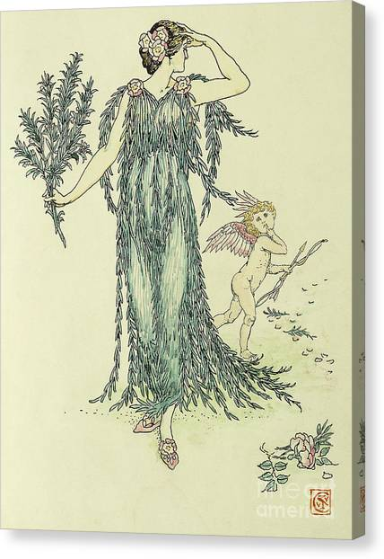 Shakespeare Canvas Print - Flowers From Shakespeare's Garden  Rosemary by Walter Crane