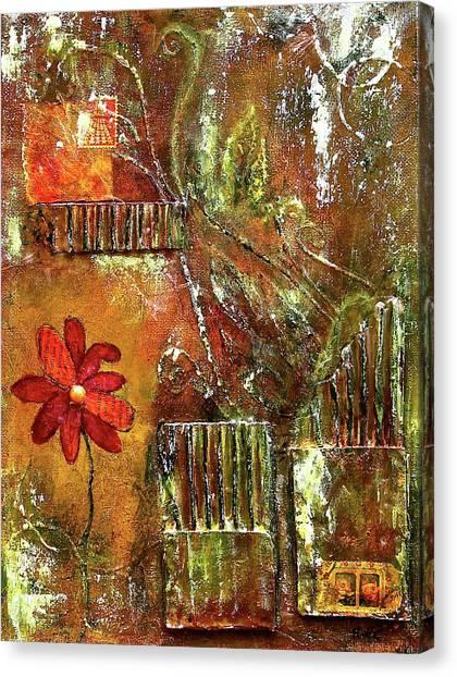 Flowers Grow Anywhere Canvas Print