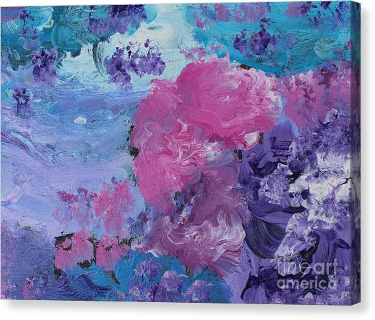 Flowers In The Clouds Canvas Print