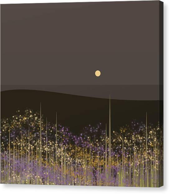 Flowers In The Moonlight Canvas Print
