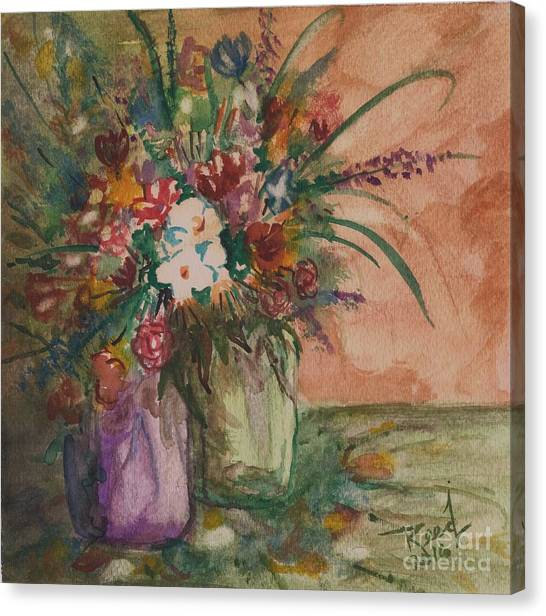 Flowers In Vases 2 Canvas Print