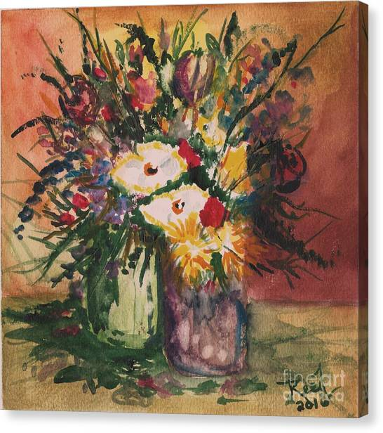Flowers In Vases Canvas Print
