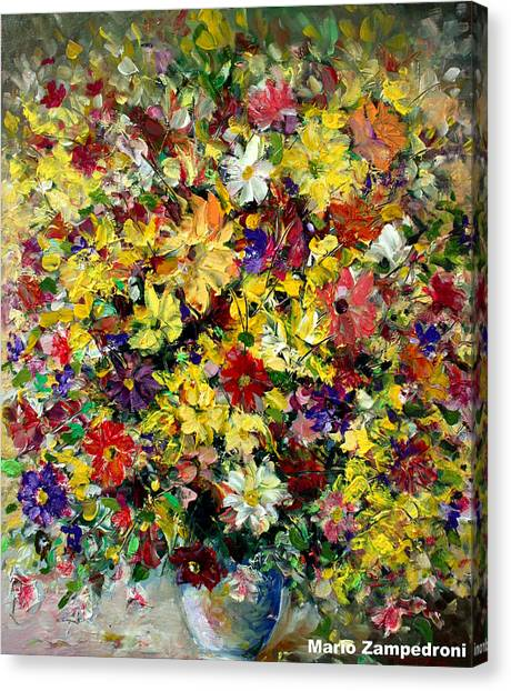 Flowers Canvas Print by Mario Zampedroni