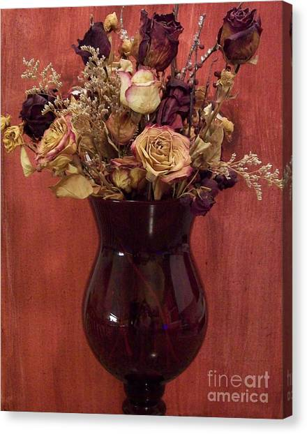 Flowers Of Love Canvas Print by Marsha Heiken