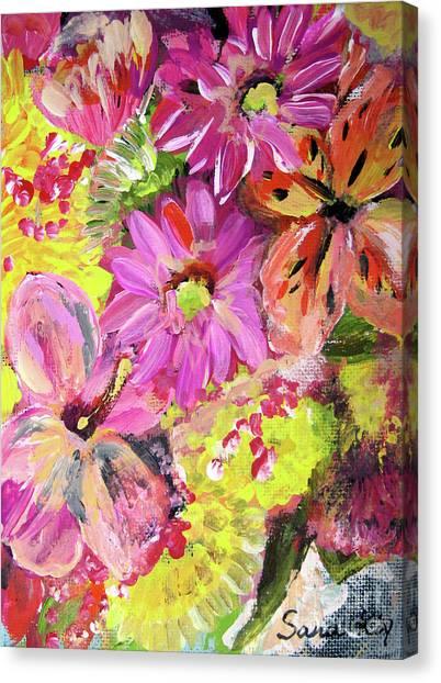 Flowers Painting Canvas Print by Oksana Semenchenko
