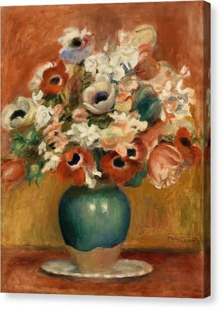 Pierre-auguste Renoir Canvas Print - Flowers by Pierre-Auguste Renoir