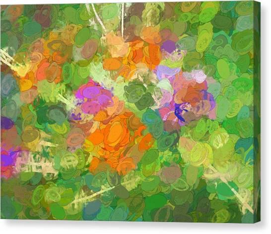 Border Wall Canvas Print - Flowery Exaggerations by Debra Lynch