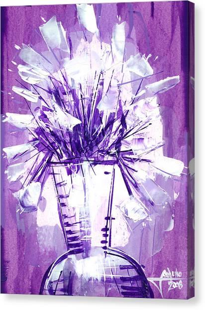 Flowery Purple II Canvas Print by Jose Julio Perez