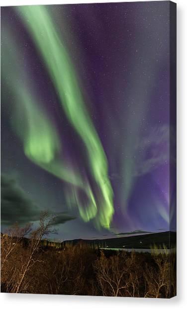 Flowing Aurora Canvas Print