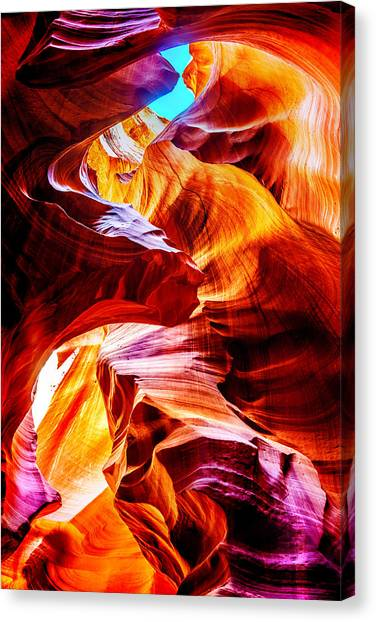 Canyon Canvas Print - Flowing by Az Jackson