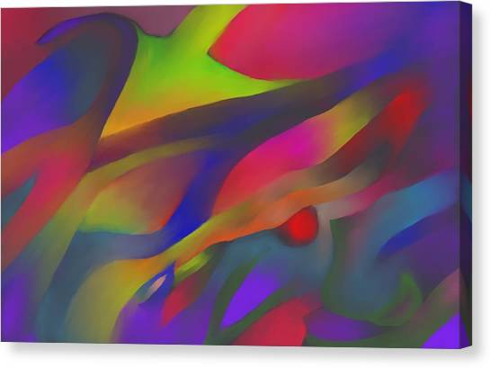 Flowing Energies Canvas Print by Peter Shor