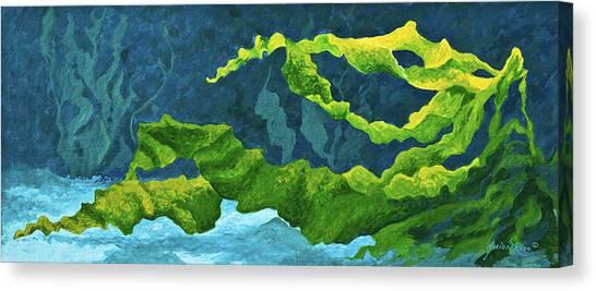 Seashore Canvas Print - Flowing Kelp by Marion Rose