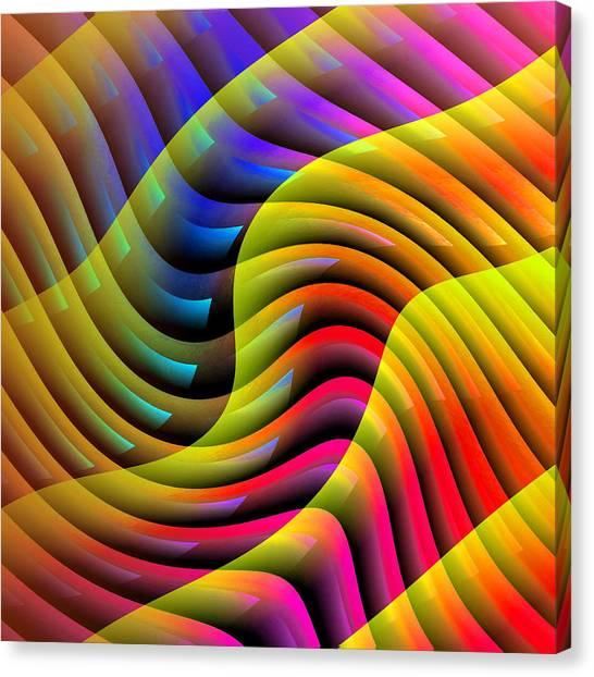 Flowing Paint Canvas Print
