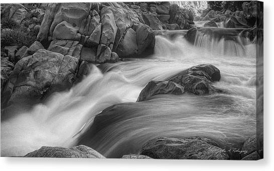 Flowing Waters At Kern River, California Canvas Print