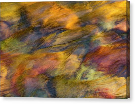 Canvas Print featuring the photograph Flowing Waters Luminescence by Leland D Howard