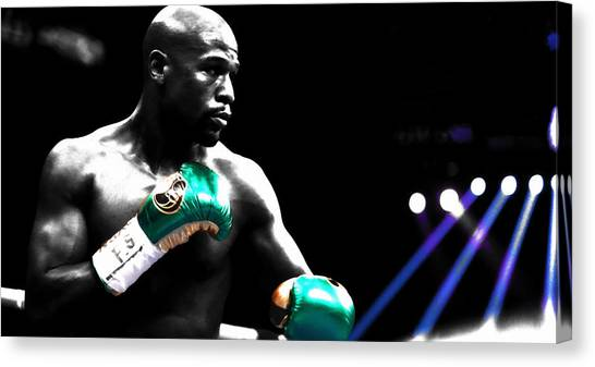 Anthony Martial Canvas Print - Floyd Mayweather 2b by Brian Reaves