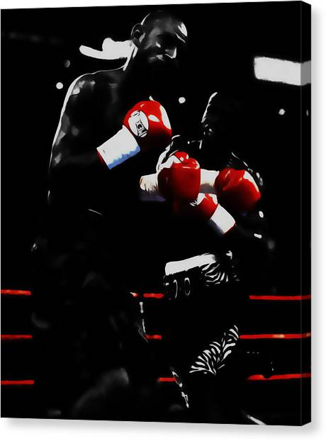 Floyd Mayweather Canvas Print - Floyd Mayweather And Diego Chico Corrales by Brian Reaves