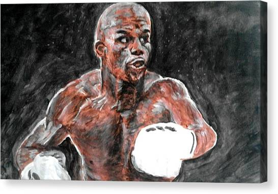 Floyd Mayweather Canvas Print - Floyd Mayweather by Paul Gibbins