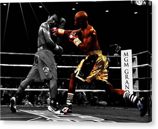 Floyd Mayweather Canvas Print - Floyd Mayweather Vs Manny Pacquiao by Brian Reaves