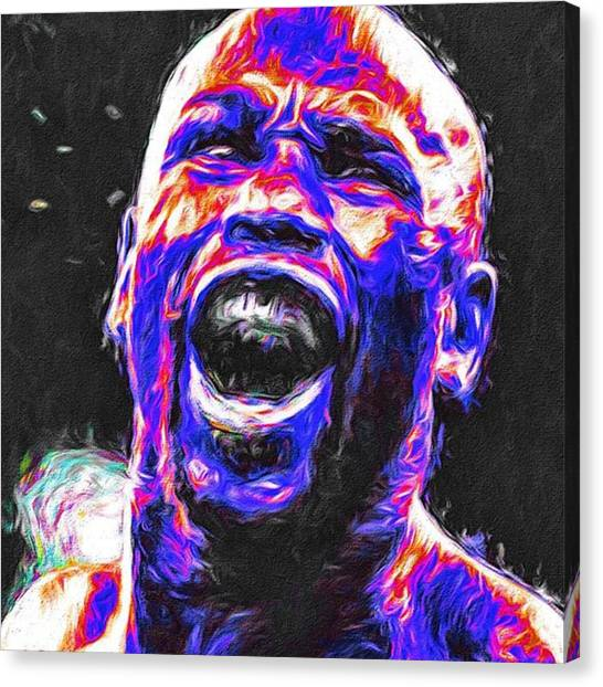 Athlete Canvas Print - #floydmayweather #floydmoneymayweather by David Haskett