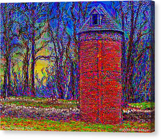 Floyd,virginia Tower Canvas Print