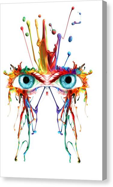 Fluid Abstract Eyes Canvas Print