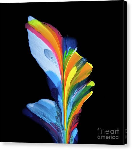 Fluidity Black #4 Canvas Print