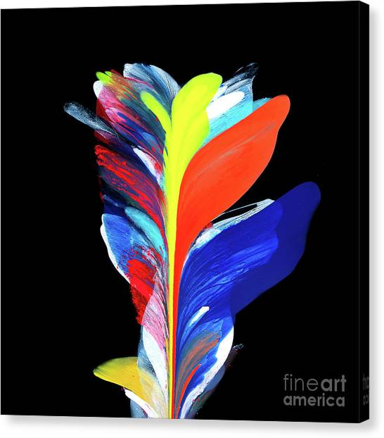 Fluidity Black #5 Canvas Print