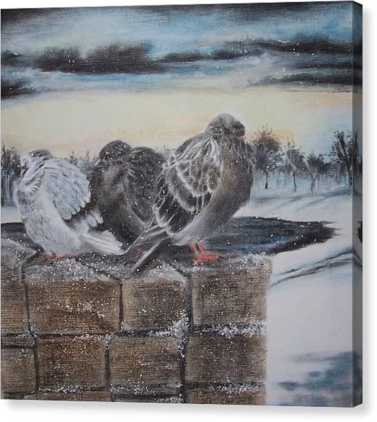Flurries Canvas Print by Kathleen Romana
