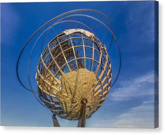 Landmarks Canvas Print - Flushing Meadows Unisphere Nyc by Susan Candelario