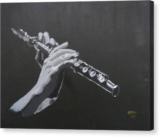 Flute Hands Canvas Print