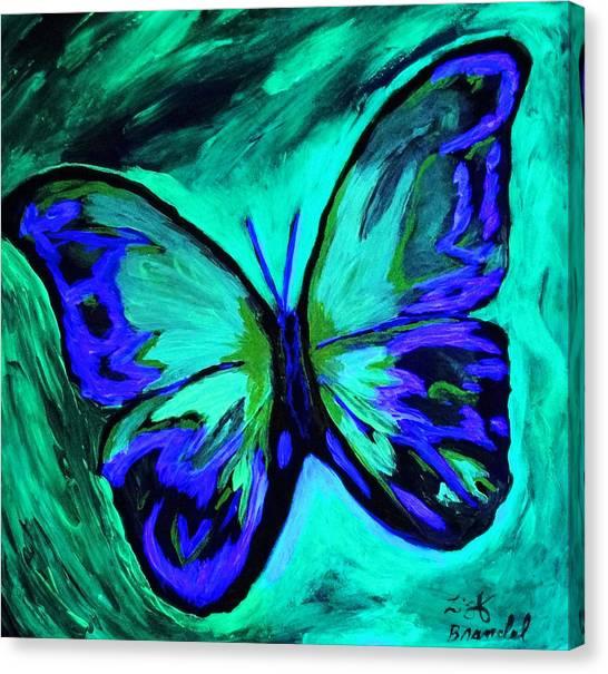 Flutterby Brings The Light Through Dark Canvas Print