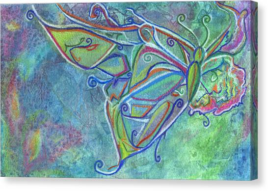 Woodland Canvas Print - Flutterby by Sarah Crumpler