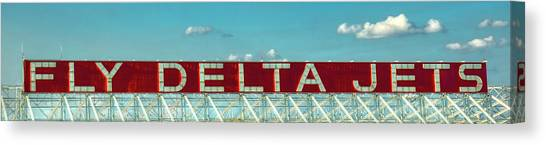Fly Delta Jets Signage Hartsfield Jackson International Airport Atlanta Georgia Art Canvas Print