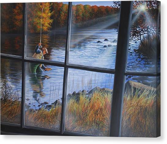 Fly Fisher Canvas Print
