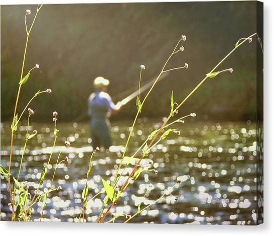 Fly Fishing Canvas Print by JAMART Photography