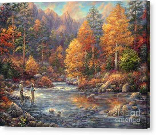 Fly Fishing Canvas Print - Fly Fishing Legacy by Chuck Pinson